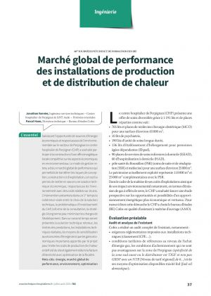 Marché global de performance des installations de production et de distribution de chaleur