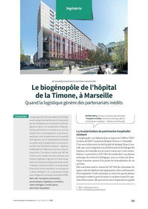 Le biogénopôle de l'hôpital de la Timone, à Marseille