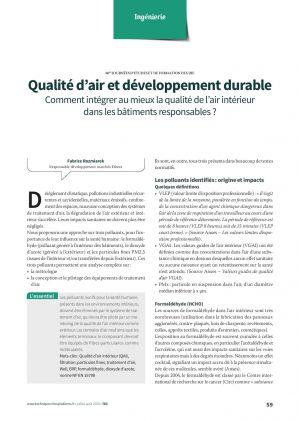 Qualité d'air et développement durable