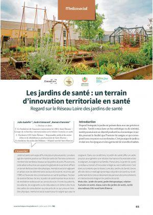 Les jardins de santé : un terrain d'innovation territoriale en santé