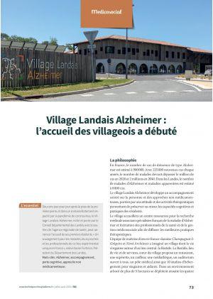 Village Landais Alzheimer : l'accueil des villageois a débuté