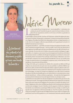 La parole à Valérie Moreno Présidente de l'AFIB