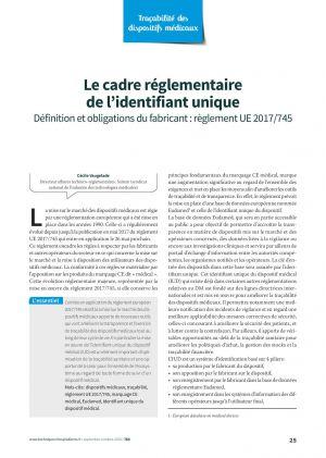 Le cadre réglementaire de l'identifiant unique