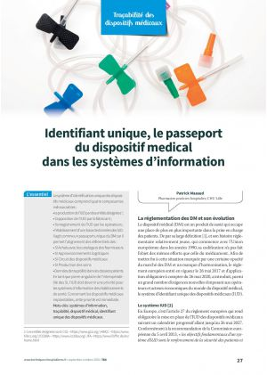 Identifiant unique, le passeport du dispositif médical dans les systèmes d'information