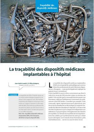 La traçabilité des dispositifs médicaux implantables à l'hôpital