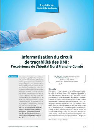Informatisation du circuit de traçabilité des DMI : l'expérience de l'hôpital Nord Franche-Comté
