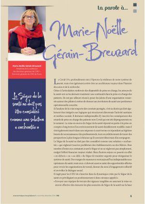 La parole à Marie-Noëlle Gérain-Breuzard, Présidente de la conférence des directeurs généraux de CHU – Directrice générale du CHU de Tours.