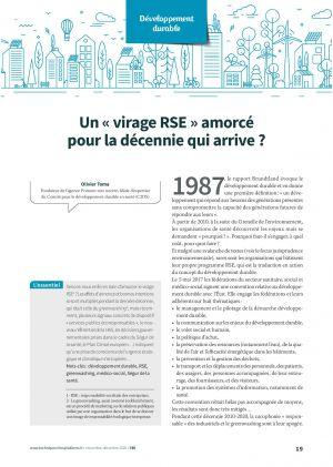 Un « virage RSE » amorcé pour la décennie qui arrive ?