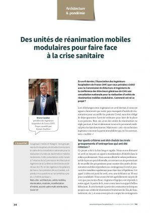 Des unités de réanimation mobiles modulaires pour faire face à la crise sanitaire