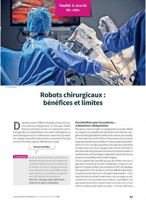 Robots chirurgicaux : bénéfices et limites