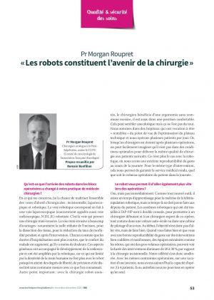 « Les robots constituent l'avenir de la chirurgie »