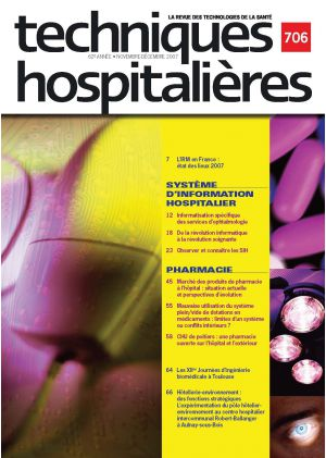 Revue Techniques hospitalières n°706