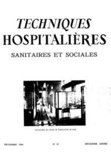 Revue Techniques hospitalières n°15