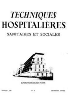 Revue Techniques hospitalières n°16