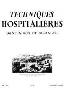 Revue Techniques hospitalières n°20