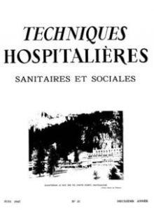 Revue Techniques hospitalières n°21