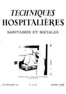 Revue Techniques hospitalières n°23-24