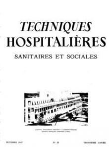 Revue Techniques hospitalières n°25