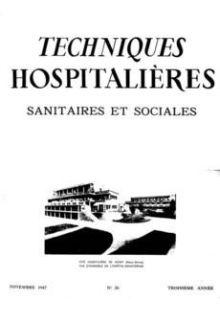 Revue Techniques hospitalières n°26