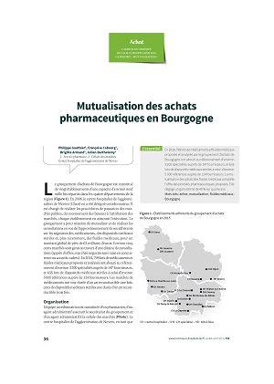 Mutualisation des achats pharmaceutiques en Bourgogne