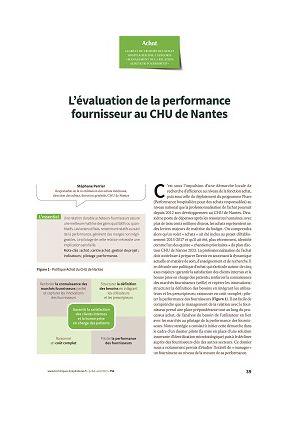 L'évaluation de la performance fournisseur au CHU de Nantes