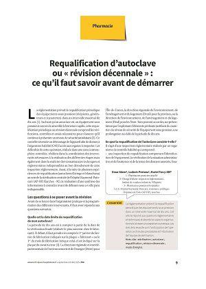 Requalification d'autoclave ou « révision décennale » : ce qu'il faut savoir avant de démarrer