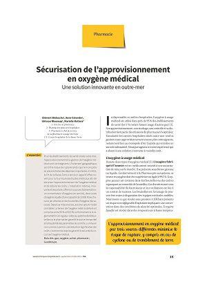 Sécurisation de l'approvisionnement en oxygène médical : une solution innovante en outre-mer