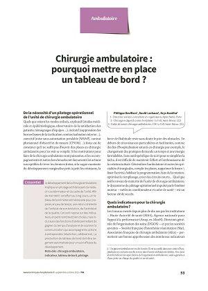 Chirurgie ambulatoire : pourquoi mettre en place un tableau de bord ?