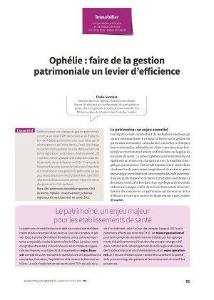 Ophélie : faire de la gestion patrimoniale un levier d'efficience